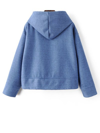 Oversized Drawstring Hoodie - BLUE S Mobile