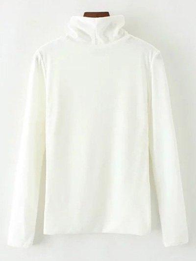 Turtle Neck Knitwear - WHITE L Mobile