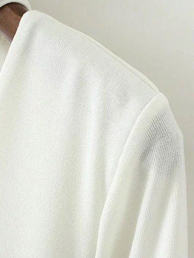 Turtle Neck Knitwear - WHITE M Mobile