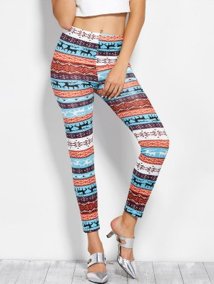 Printed Skinny Christmas Leggings