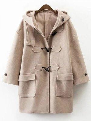 Hooded Duffel Walker Coat - Khaki
