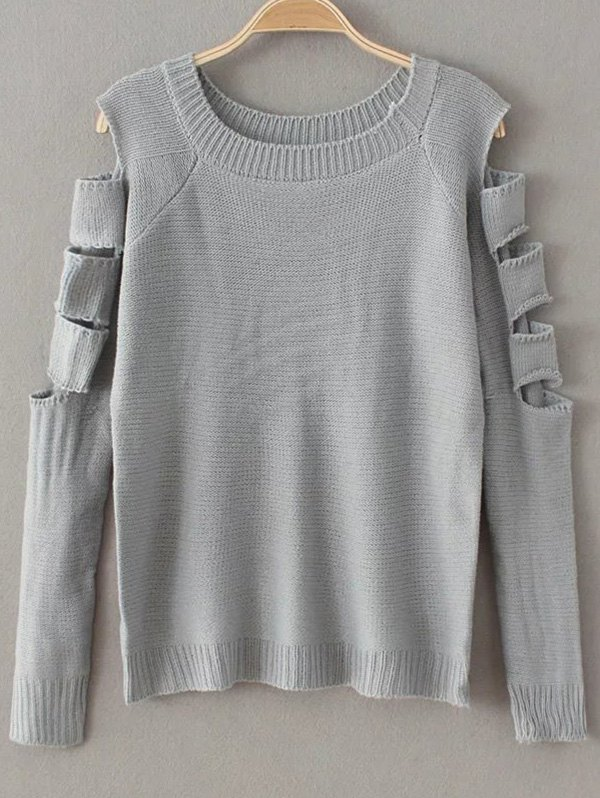 Cut Out Fitting Sweater