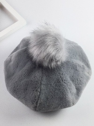 Casual Thicken Fur Pompom Ball Beret