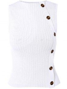 Button Embellished Sweater Vest