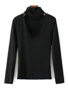 Turtle Neck Knitwear - Black S