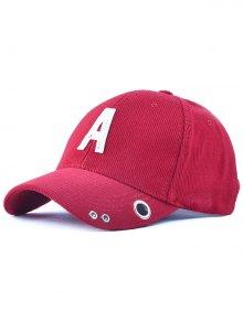 Casual Corduroy Stripe Lettres Adjustable Baseball Cap