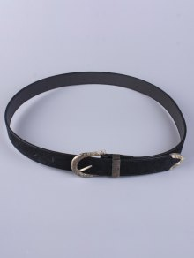 Trousers Wear Embellished Buckle Belt - Black