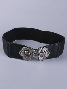 Buy Coat Wear Polished Floral Buckle Belt -