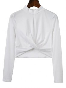 Cropped High Collar T-Shirt