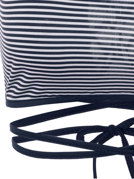Striped Strappy Camisole - BLUE S Mobile