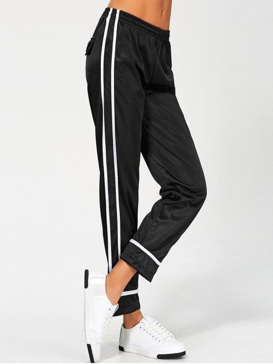 Stripes Track Pants - BLACK L Mobile