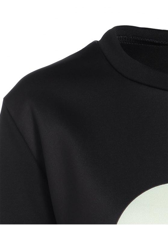 Casual Skull Sweatshirt - BLACK S Mobile