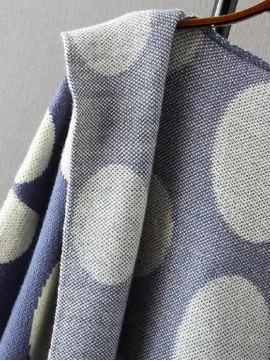 Polka Dot Hooded Cashmere Cardigan - PALOMINO ONE SIZE Mobile