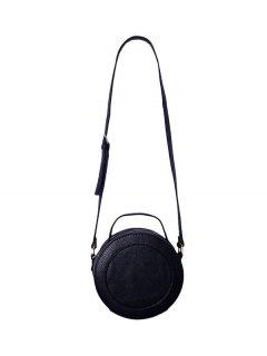 Double Zips PU Leather Canteen Bag - Black