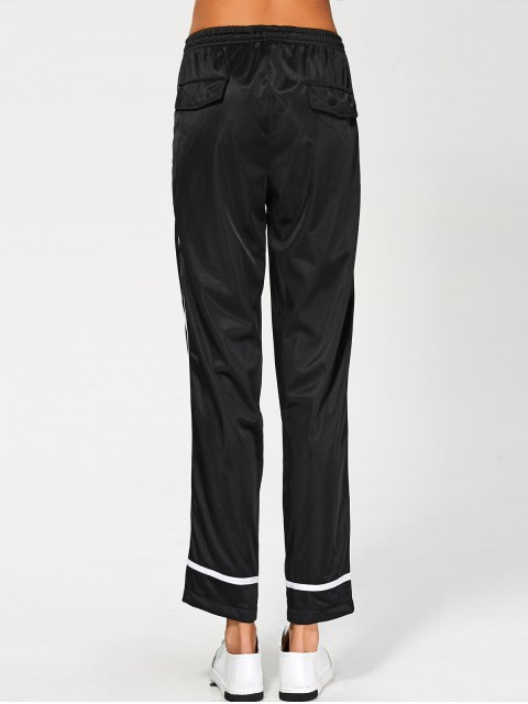 buy Stripes Track Pants - BLACK M Mobile