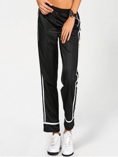 affordable Stripes Track Pants - BLACK L Mobile