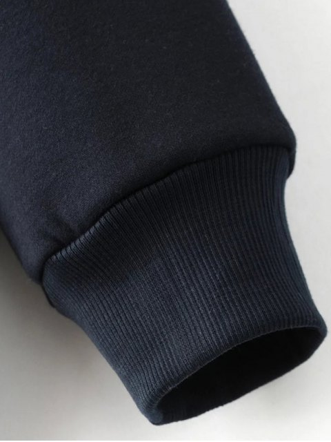unique Sequins Letter Sweatshirt - BLACK S Mobile