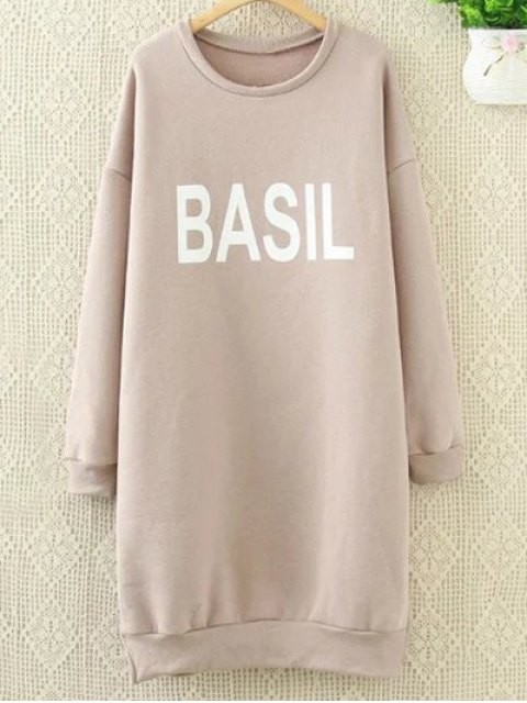 outfits Long Letter Sweatshirt - PINK XL Mobile