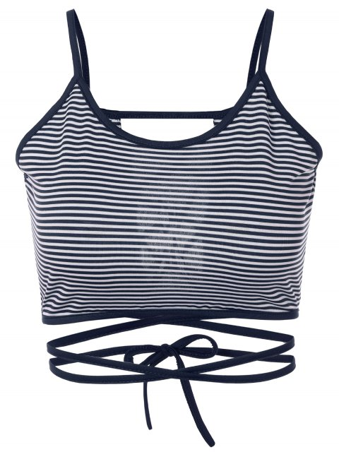 outfit Striped Strappy Camisole - BLUE S Mobile