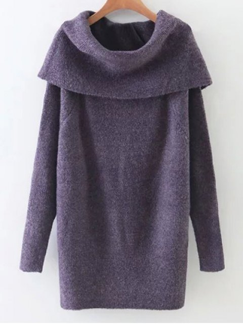 fancy Turtleneck Stretchy Kintwear - PURPLE ONE SIZE Mobile