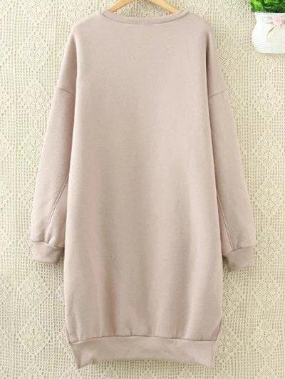 Long Letter Sweatshirt - PINK 2XL Mobile