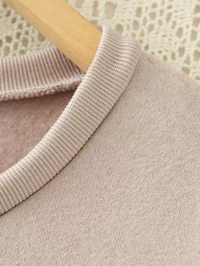 Long Letter Sweatshirt - PINK XL Mobile