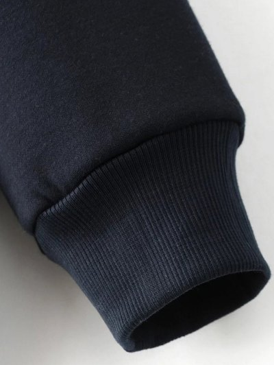 Sequins Letter Sweatshirt - BLACK L Mobile
