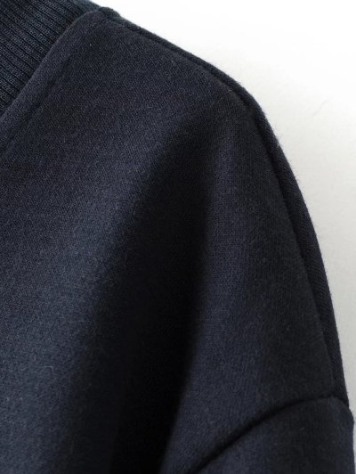 Sequins Letter Sweatshirt - BLACK S Mobile