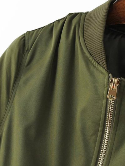 Pilot Jacket With Pockets - ARMY GREEN M Mobile
