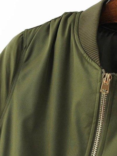 Pilot Jacket With Pockets - BURGUNDY M Mobile