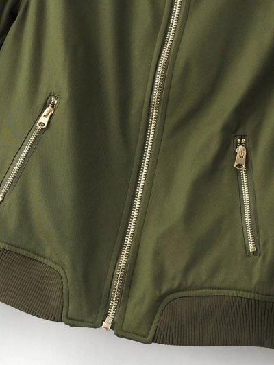 Pilot Jacket With Pockets - BURGUNDY S Mobile