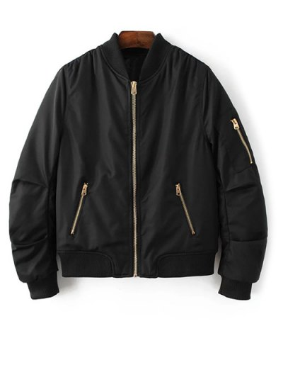 Pilot Jacket With Pockets - BLACK M Mobile