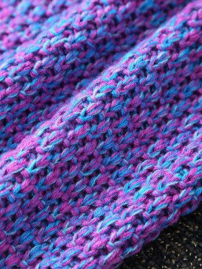 Sleeping Bag Knitted Mermaid Blanket - PURPLE  Mobile