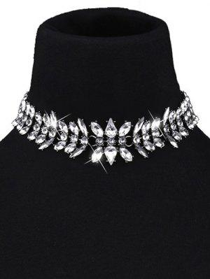 Gargantilla De Lágrima Collar De Cristal De Imitación - Blanco