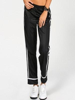 Stripes Track Pants - Black