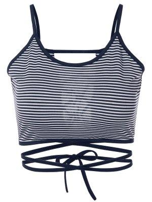Striped Strappy Camisole - Blue