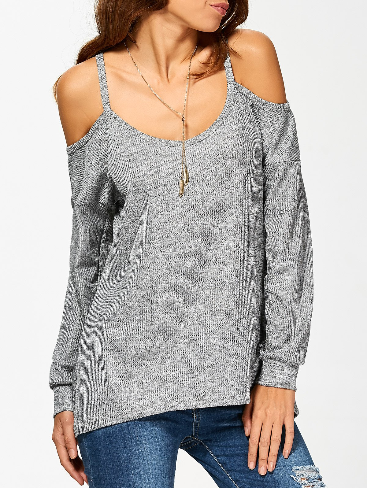 Long Sleeve Cold Shoulder T-Shirt