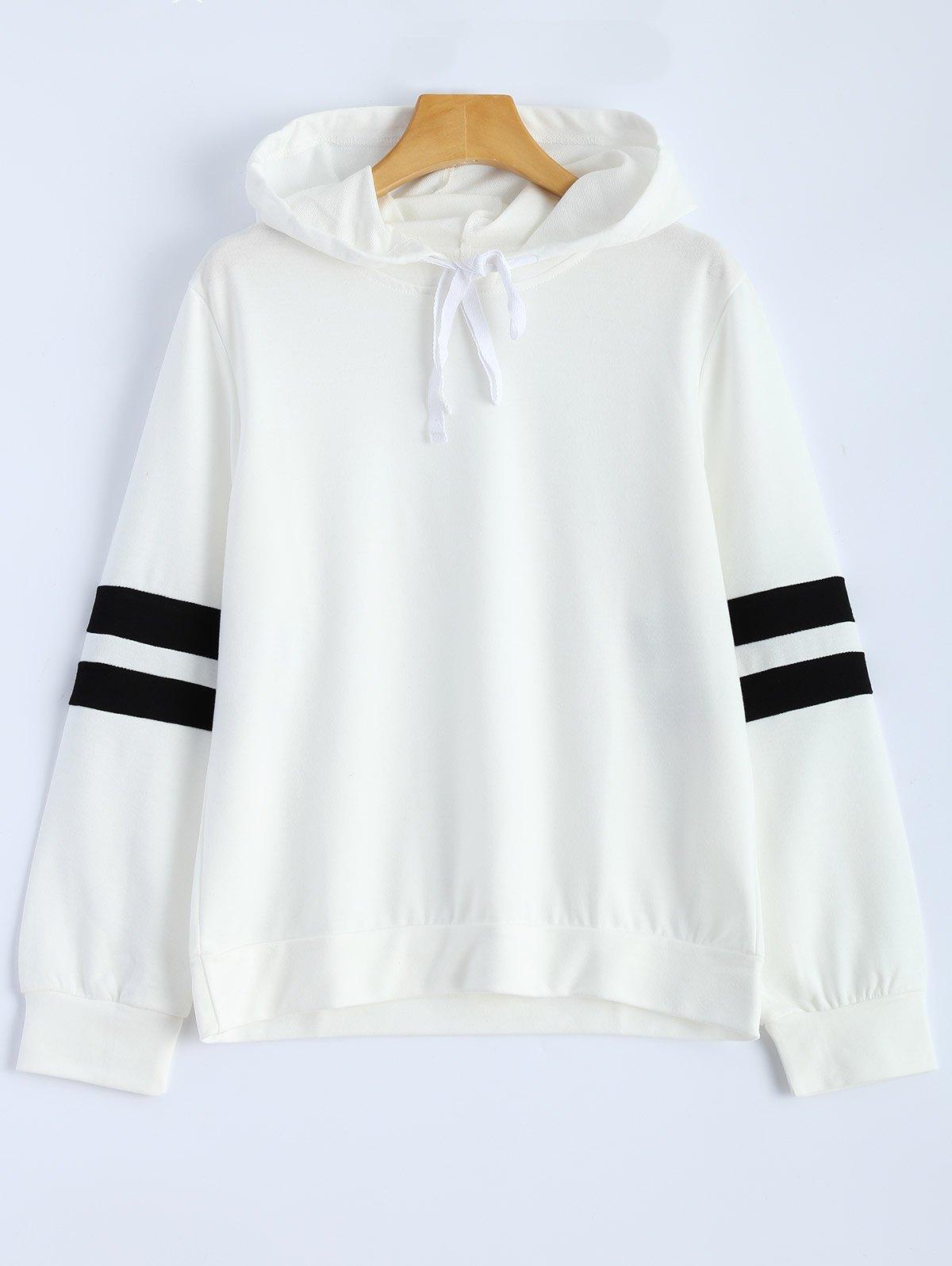 Hooded Striped Sweatshirt