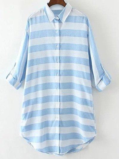 Stripe Long Loose Shirt