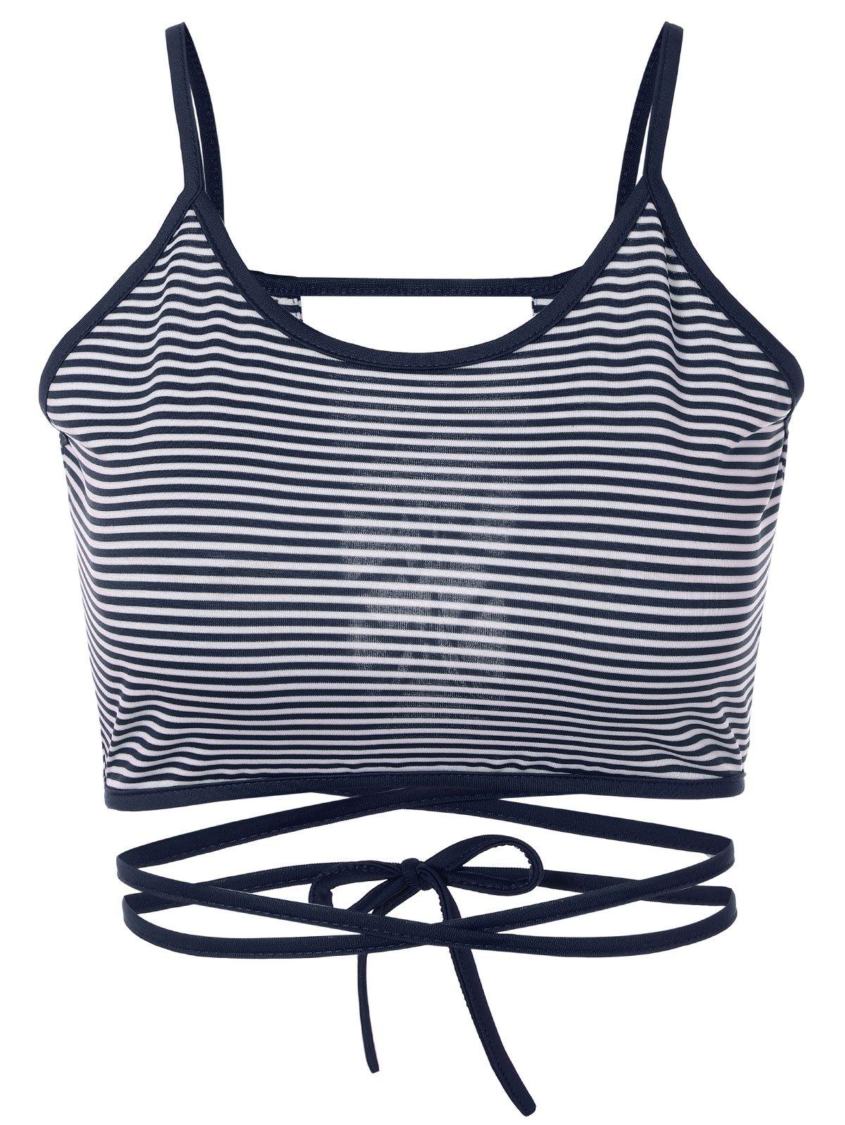 Strappy Striped Cami Top