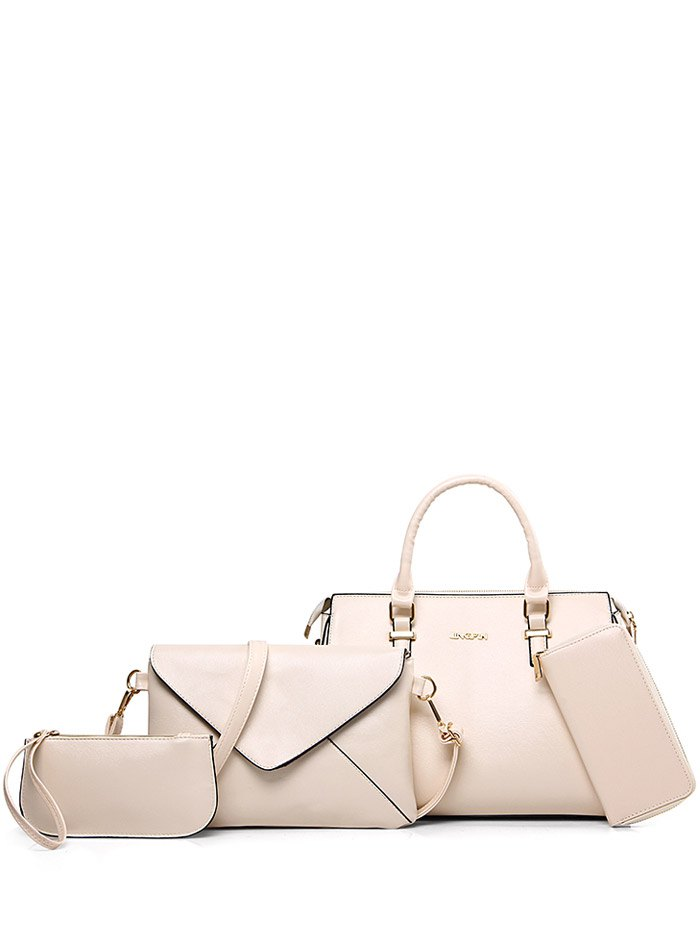 Zippers PU Leather Tote Bag