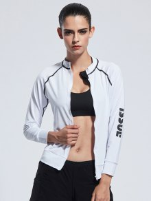 Bodycon Zipper Yoga Jacket