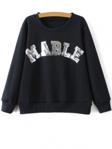 Sequins Letter Sweatshirt