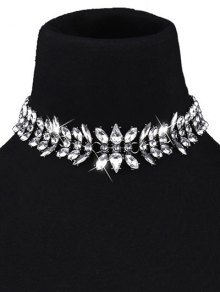 Teardrop Faux Crystal Choker Necklace