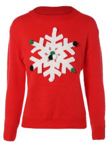 Snowflakes Christmas Sweater - Red