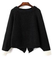 Slit Asymmetric Sweater