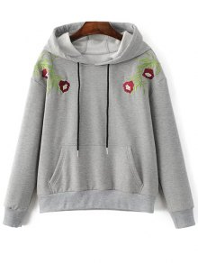 Thickening String Embroidered Hoodie