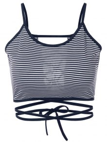 Striped Strappy Camisole - Blue