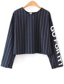 Buy Striped Graphic Sleeve Boxy Top