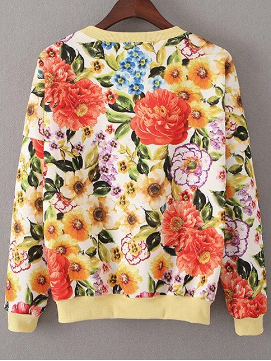 Vintage Floral Sweatshirt - JACINTH M Mobile